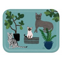 Cats Tray - Birchwood Large - Design by Anne Bentley