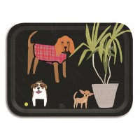 Dogs Tray - Birchwood Small - Design by Anne Bentley