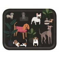 Dogs Tray - Birchwood Large - Design by Anne Bentley