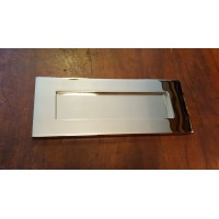 "'Bank' Style Letterplate - Nickel - SMALL 10"" x 4"""