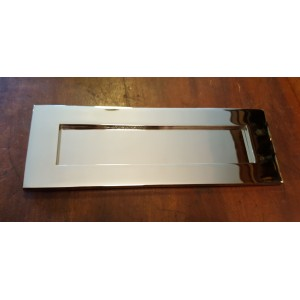 "'Bank' Style Letterplate - Nickel - Medium 12"" x 4 1/4"""