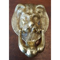 Reclaimed Small (Bedroom) Door Knocker - Lion - Brass