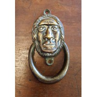 Reclaimed Small (Bedroom) Door Knocker - Wise Man - Brass
