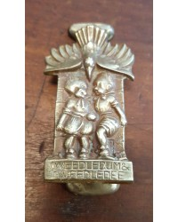 Reclaimed Small Door Knocker - Tweedledum & Tweedledee - Brass