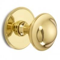 British Made - Plain Round Centre Door Knob - Brass OR Nickel