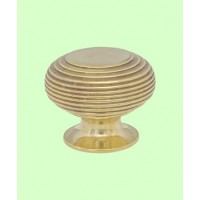Beehive Cupboard Knob - Brass - Large