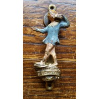 Reclaimed Small (Bedroom) Door Knocker - Peter Pan - Painted Brass