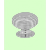 Beehive Cupboard Knob - Nickel - Large