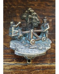 Reclaimed Small (Bedroom) Door Knocker - The Ducking Stool - Brass