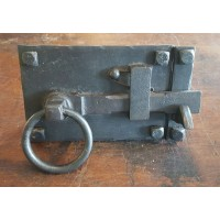 Oxford Cottage Latch - Sprung - Beeswax - Left Handed