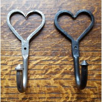 Love Heart Hook - Beeswax OR Antique Iron