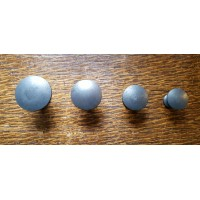 Smooth Iron Cupboard Knobs - 5 Sizes 20mm - 40m