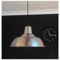 """Kitchen"" Pendant Shade - Polished Mild Steel - 280mm Diameter"