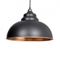 Harborne Pendant Light - Black Hammered Copper - Anvil 49501B