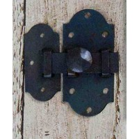 Cabinet Slide Bolt Fastener - Antique Iron - 70 mm