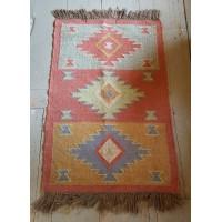Kilim Rug No 2 - Jute & Wool - 60 x 90cm