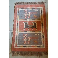 Kilim Rug No 3 - Jute and Wool - 60 x 90cm