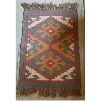 Kilim Rug No 4 - Jute and Wool - 60 x 90cm