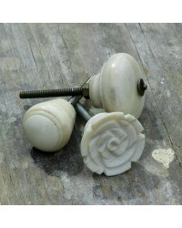 Bone Cupboard Knob - Rose - 35mm