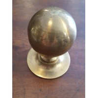 Reclaimed Round Centre Door Pull #1 - Brass