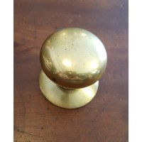 Reclaimed Round Centre Door Pull #2 - Brass