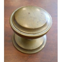 Reclaimed Round Centre Door Pull #3 - Brass