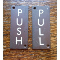 Reclaimed Bronze Push & Pull Signs