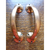 "Reclaimed Brass Door Pulls - 6"" - Pair"