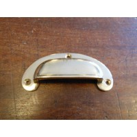 Drawer Pull - Cast Brass - 3 Hole