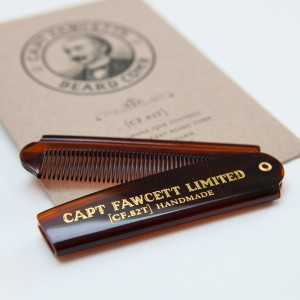 'Captain Fawcett Ltd' - Folding Pocket Beard Comb