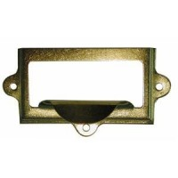 Drawer Pull - Card Frame - Pressed Brass