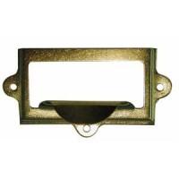 Drawer Pull - Card Frame - Pressed Brass