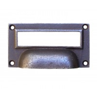 Drawer Pull - Cast Iron - Label Frame