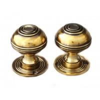 Bloxwich Door Knob - Brass - Standard - Mortice & Rim