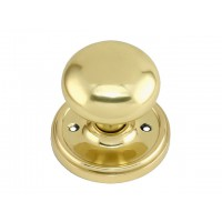 Cottage Brass Door Knob - Large -  Mortice & Rim