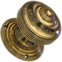 Victorian Door Knob - Brass - Mortice