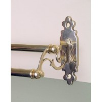 Classic Towel Rail - Double - Polished Brass