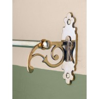 Classic Towel Rail - Single - Polished Brass
