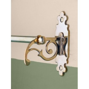 Classic Towel Rail - Single - Brass