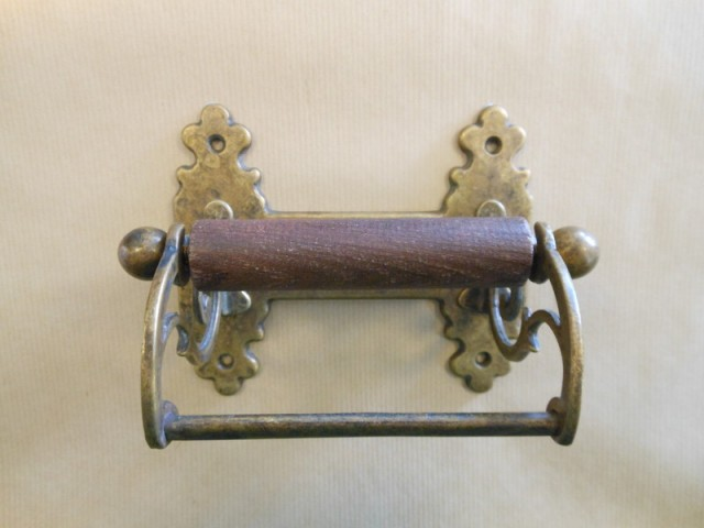 Vintage toilet roll holder antique brass Antique toilet roll holders