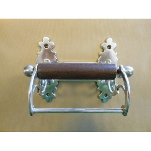 Classic Toilet Roll Holder - Antique Silver Plate