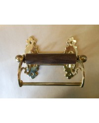Classic Toilet Roll Holder - Brass
