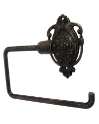 Nouveau Toilet Roll Holder - Antique Brass