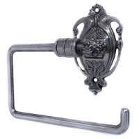 Nouveau Toilet Roll Holder - Aged Silver