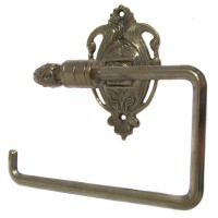 Nouveau Toilet Roll Holder - Polished Brass