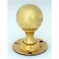 Classic Round Brass Door Knob - Mortice