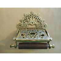 Ornate Toilet Roll Holder - Brass