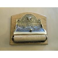Victorian Toilet Roll Holder - Aged Brass