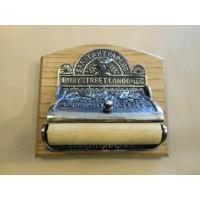 Victorian Toilet Roll Holder - Aged Nickel