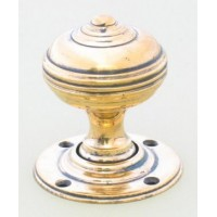 Georgian Door Knob - Brass - Mortice